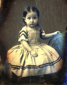 Lucy Skidmore Scibner as a young child